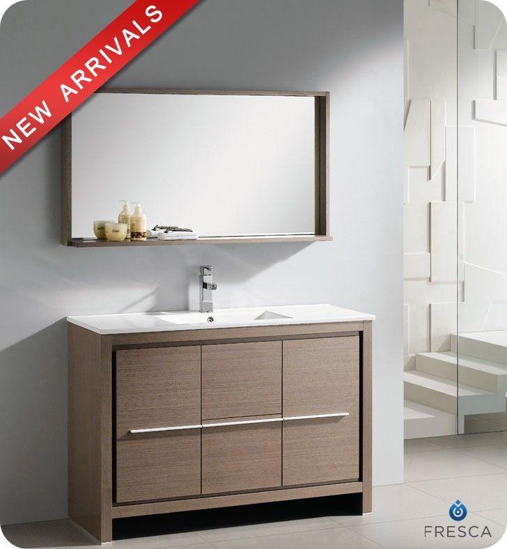 Fresca Fvn8148go Allier 48 Inch Gray Oak Modern Bathroom Vanity