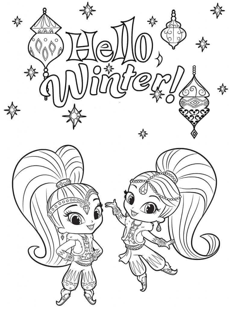 Shimmer And Shine Coloring Pages Coloring Pages Cartoon