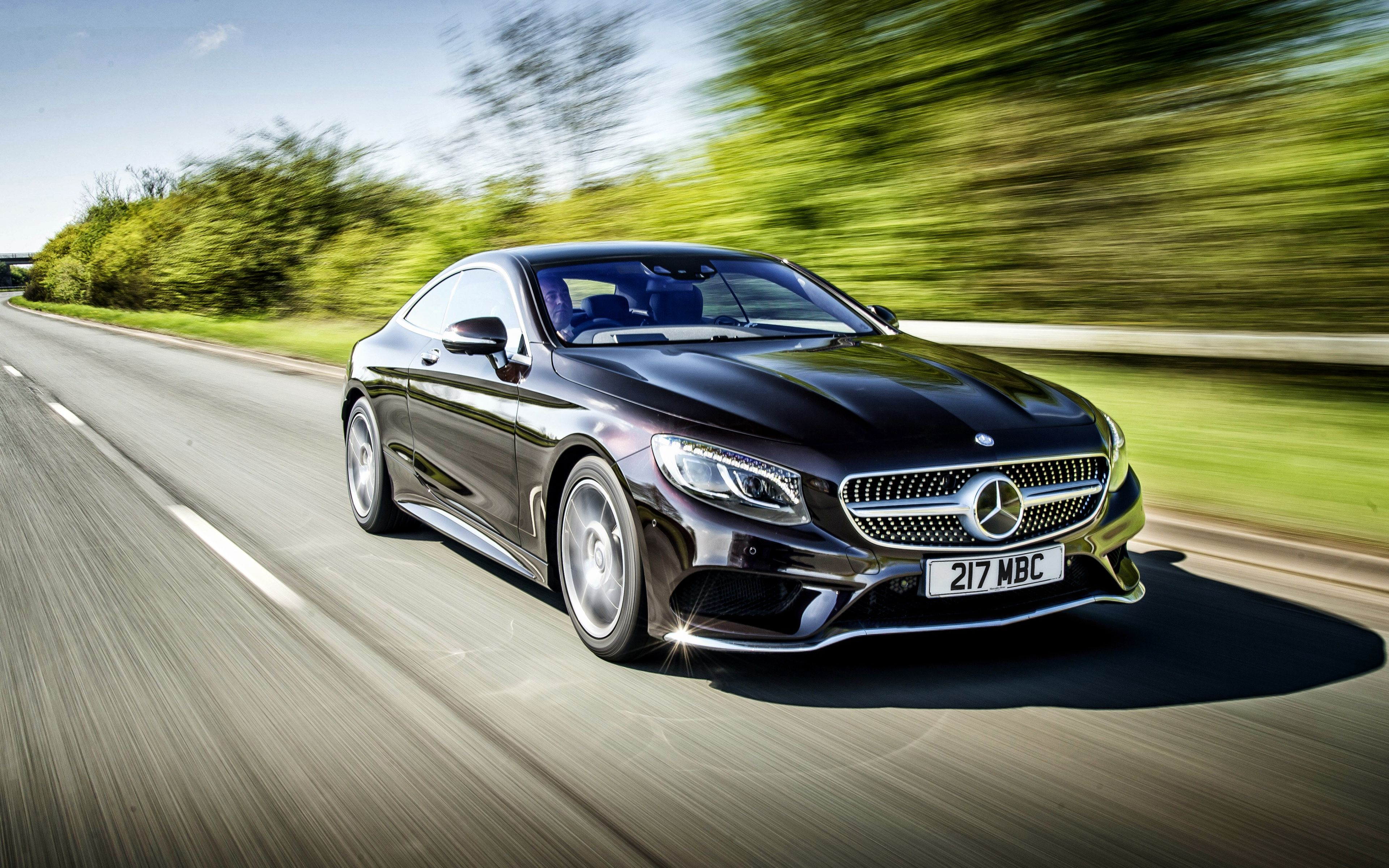 Hd Background Mercedes Benz S 500 Coupe Motion Blue Speed Black