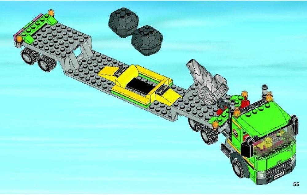 City Excavator Transporter Lego 4203 Lego Lego Truck Excavator