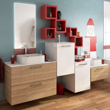 Meuble de salle de bains de 80 à 99, brun / marron, Neo line
