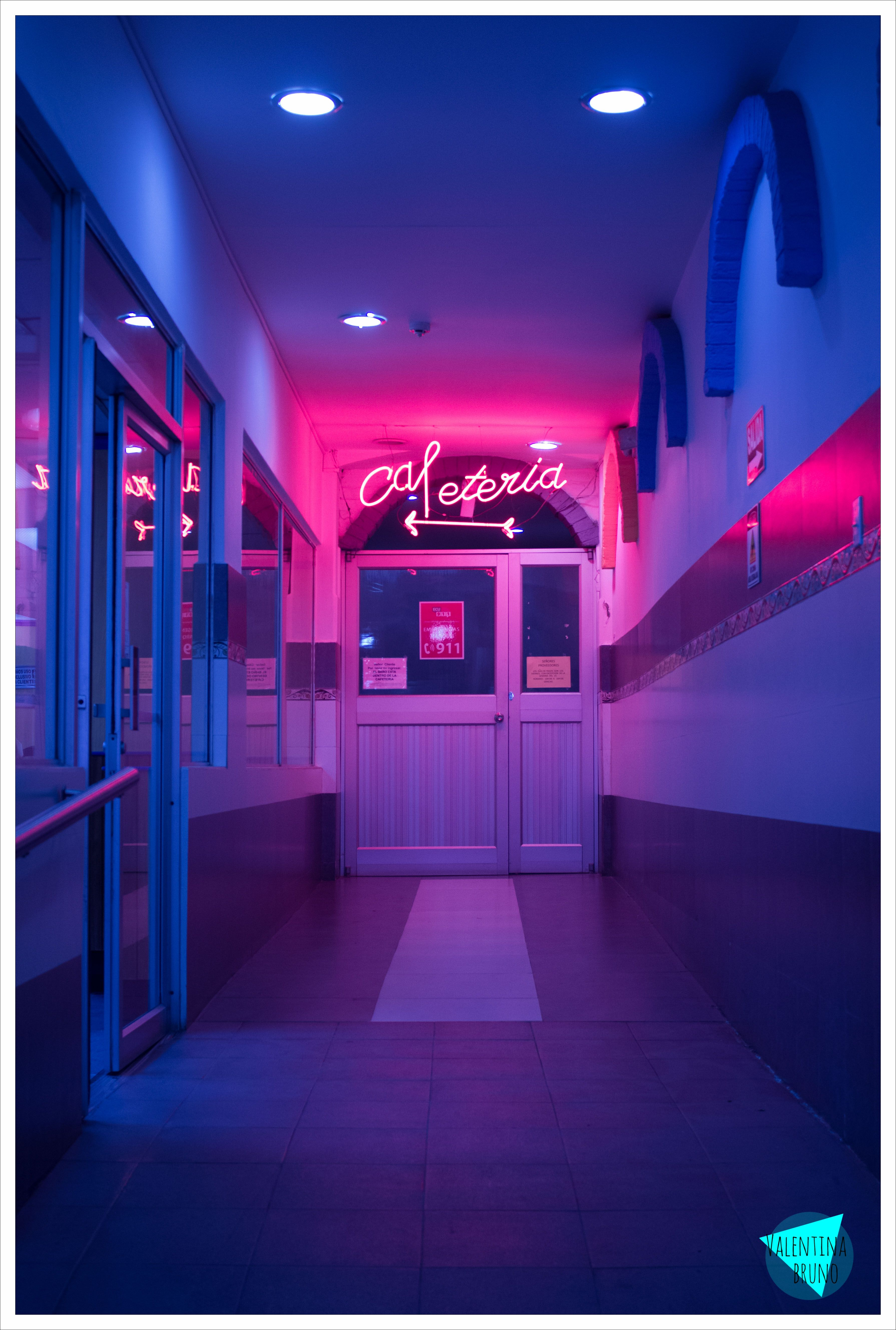 Aesthetic Red Neon Glow