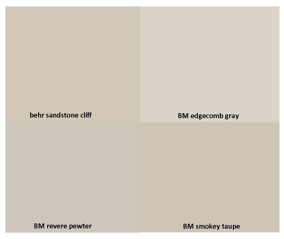 Grey Taupe Paint: Benjamin Moore Smokey Taupe Vs Revere Pewter #AS15