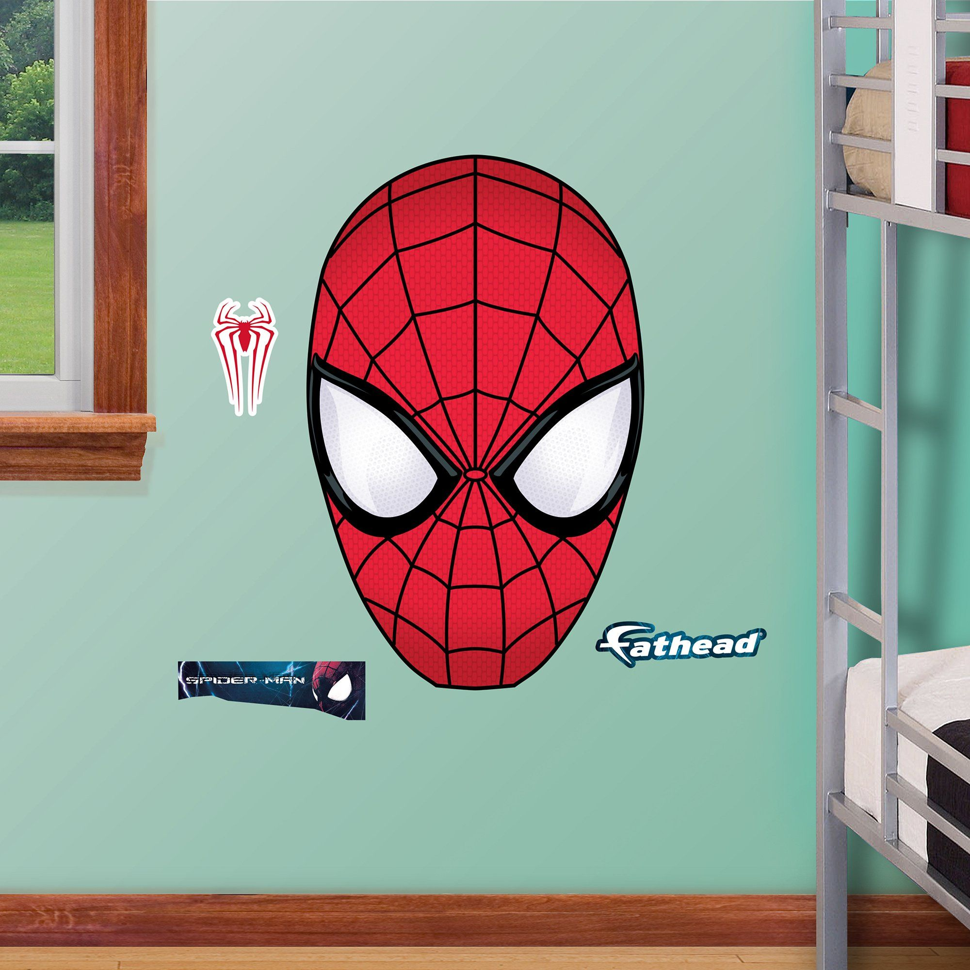 fathead the amazing spider man 2 mask junior wall decal kids fathead the amazing spider man 2 mask junior wall decal
