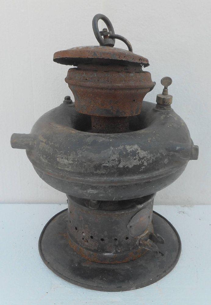 VINTAGE PETROMAX 834 KEROSENE HANGING LAMP LANTERN MADE IN GERMANY Stock Nox1032