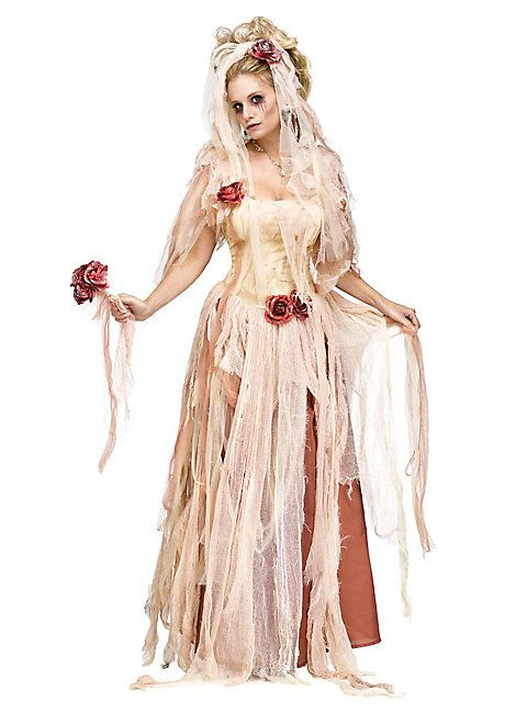 tote braut kost m halloween costume dress rose bride undead zombie halloween kost me. Black Bedroom Furniture Sets. Home Design Ideas