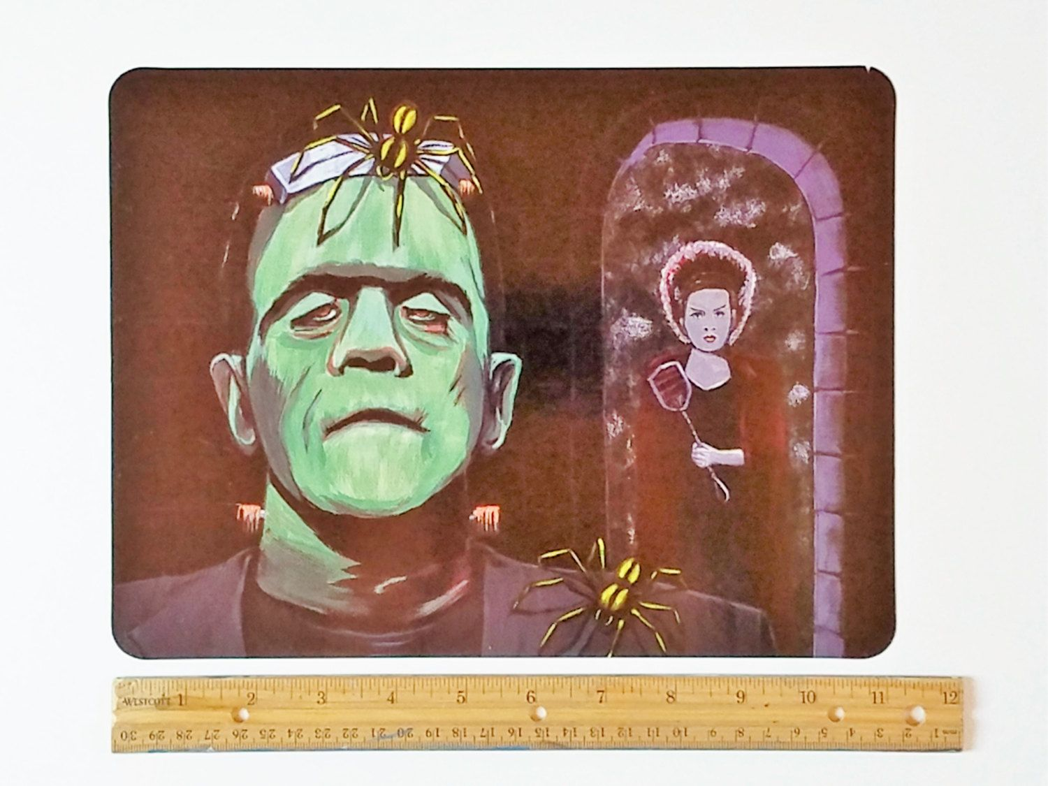 Scary Halloween Decoration, Large Refrigerator Magnet, Frankenstein - Spooky Halloween Decorations