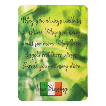 Irish blessing baby blanket baby gifts child new born gift idea irish blessing baby blanket baby gifts child new born gift idea diy cyo special unique negle