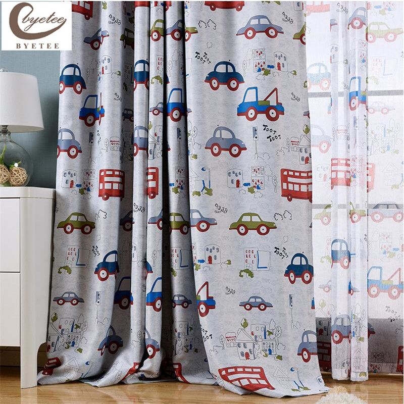 Kids Bedroom Curtains Entrancing Byetee Modern Cartoon Child Bedroom Curtains Customize Car Review