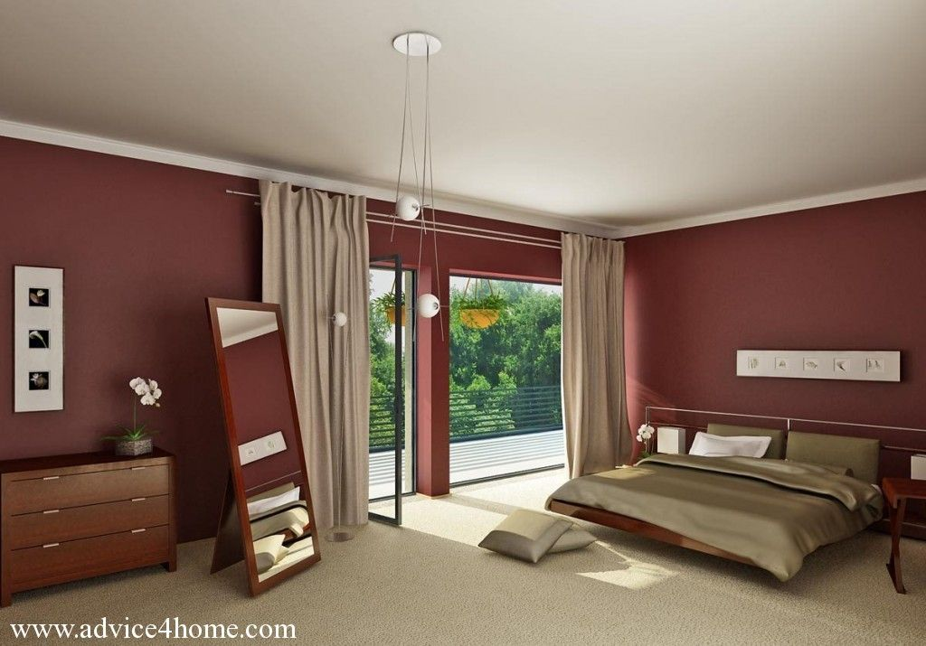 Burgundy And Gold Contrast Bedroom 1024x715 (1024×
