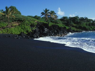 Black Sand Beach Hawaii The Island