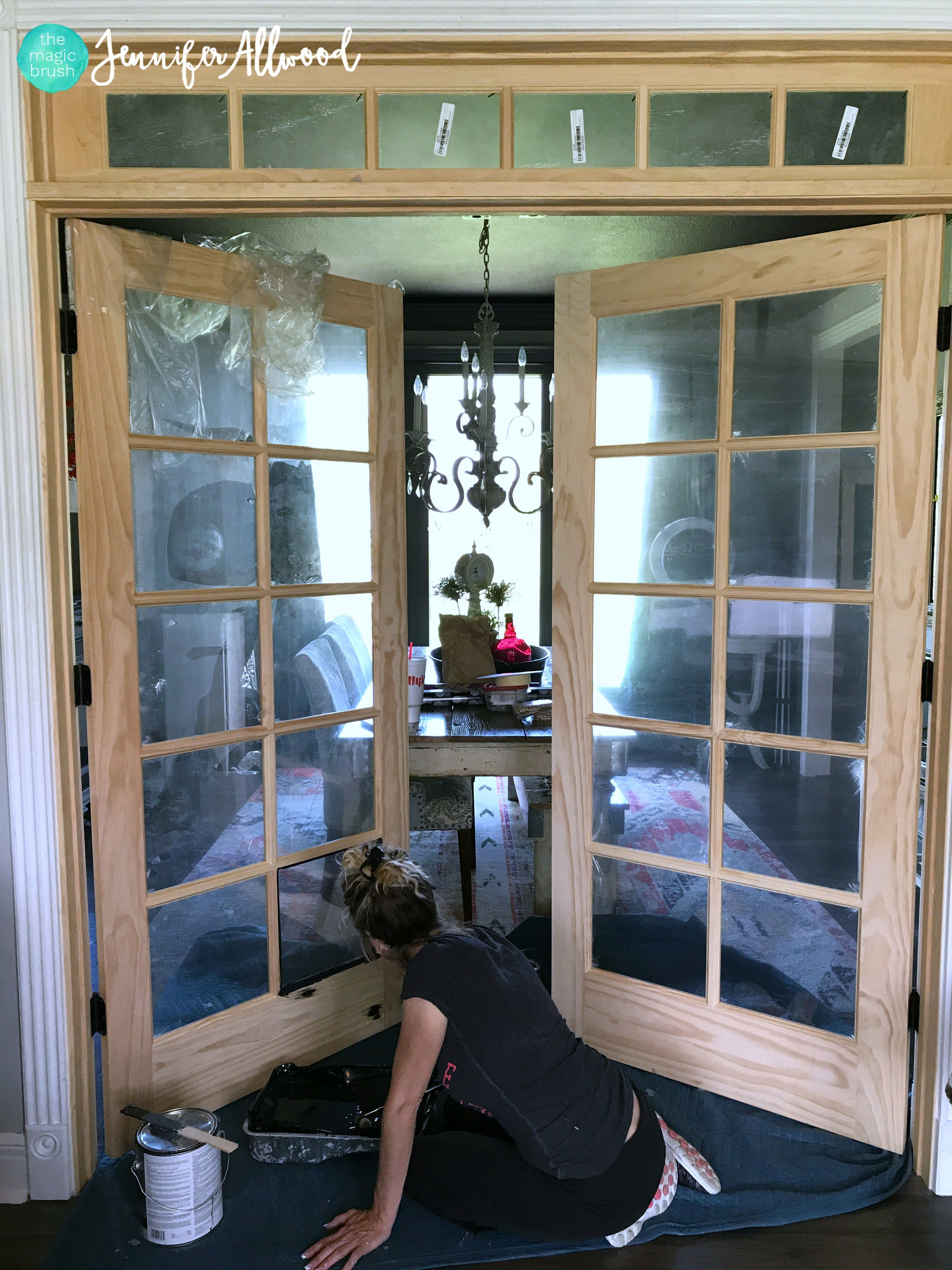 Diy painted black french doors french doors wood
