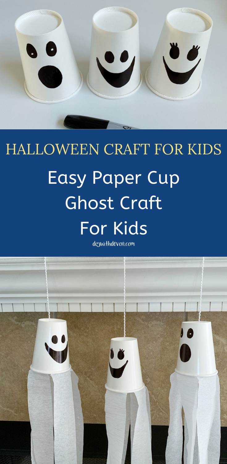 Easy Halloween Ghost Craft For Kids