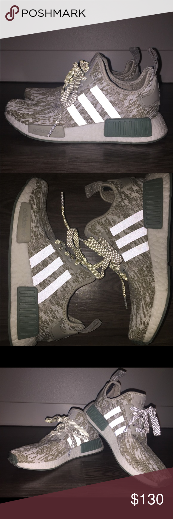 39f036dd6162c Adidas Originals NMD R1 Sesame Trace Green White Fit size 5.5 in Men s and  7.5 in Women s. Worn once. Brand new with box. Perfect condition adidas  Shoes ...