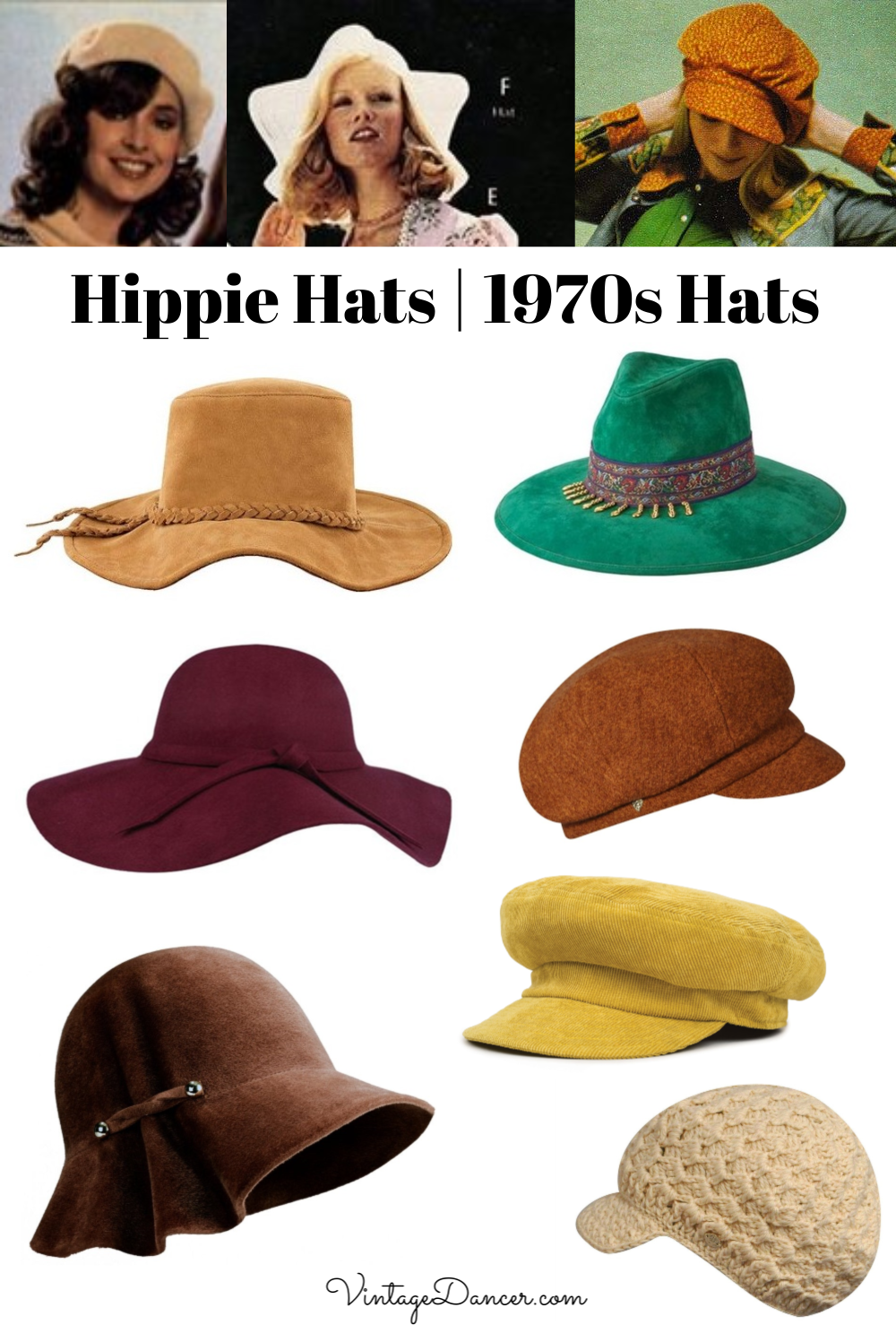 Hippie Hats 70s Hats 1970s Hats Boho Hats Disco Hats For Women At Vintagedancer 70s Fashion Hippie Hippie Hat 70s Hats