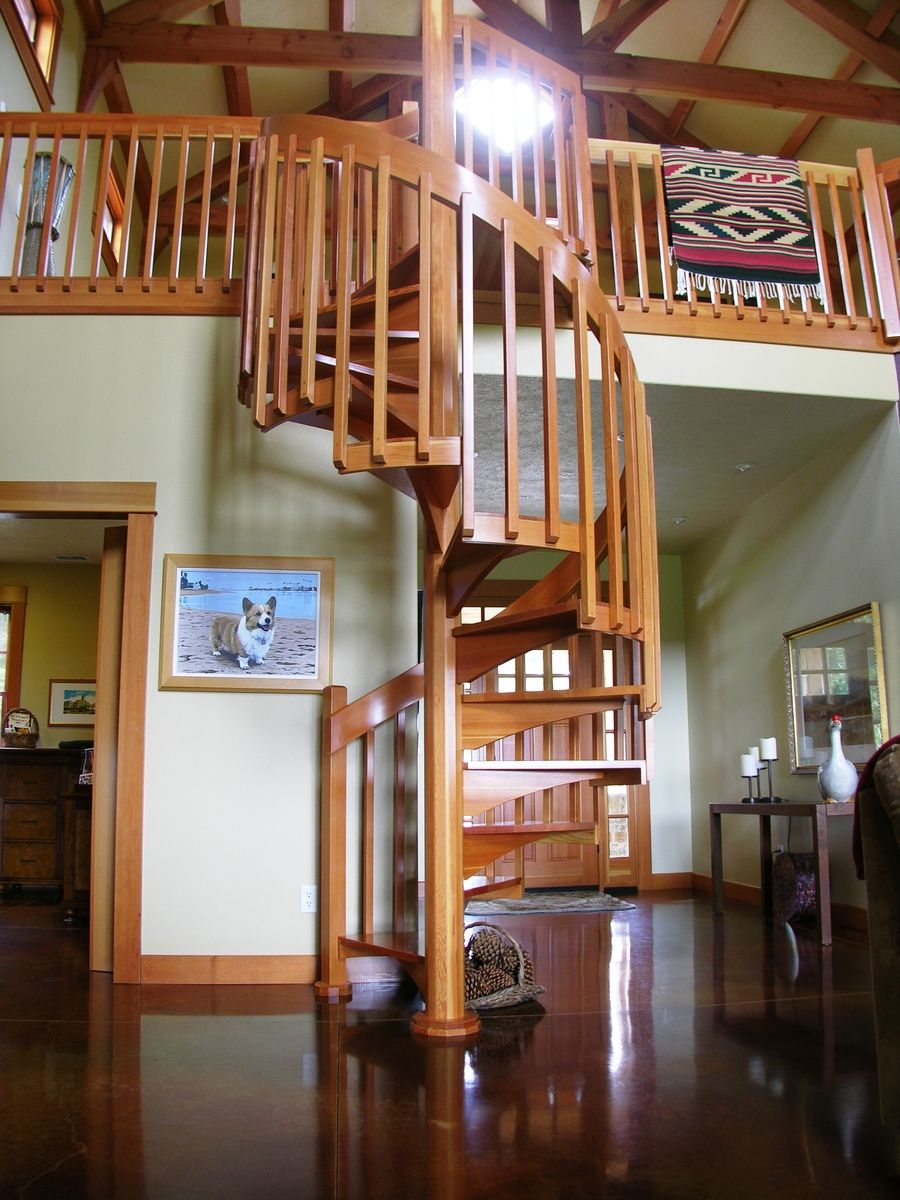 Best Craftsman Style Spiral Stair Stairs Spiral Stairs 400 x 300