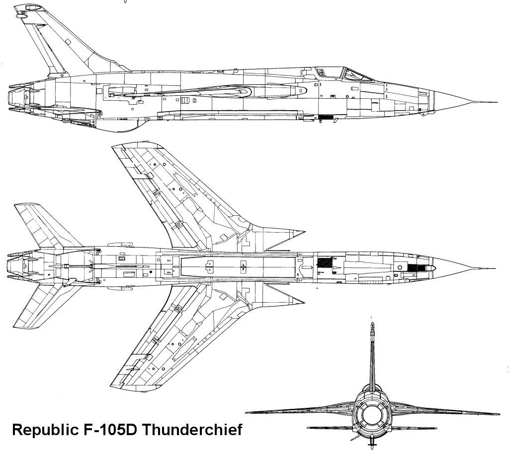 F-105 Thunderchief blueprint | Aerospace | Aviation art, Aviation,