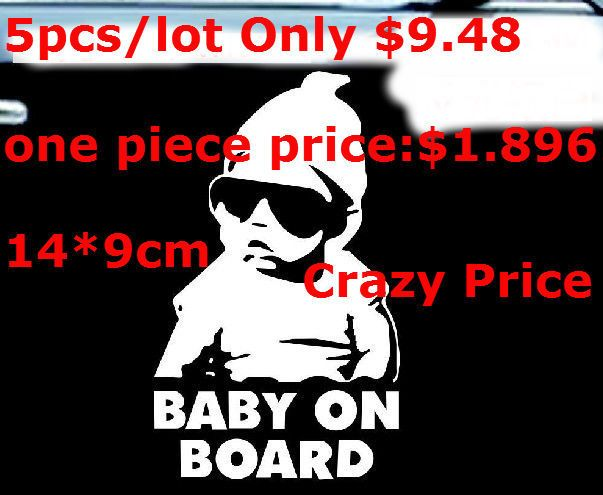 Pcslot Cool Baby On Board Car Sticker Motorcycle Sticker Vinyl - Custom vinyl decals covering for motorcycles