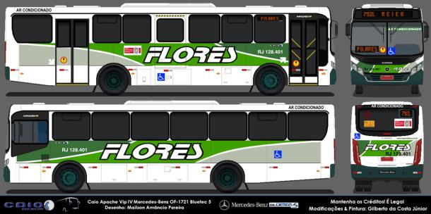 Caio Apache Vip Iv Mercedes Benz 1721 Bluetec 5 Transportes Flores