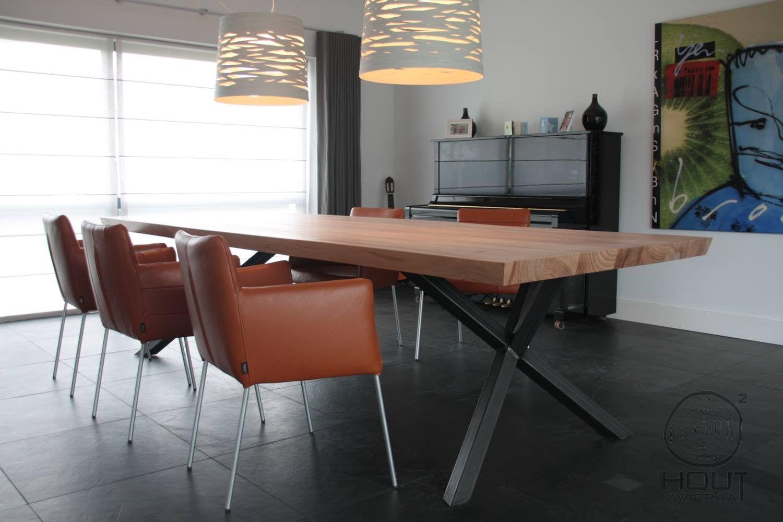 Houten Tafel Stalen Frame.Houten Tafel Met Stalen Frame In 2019 Eettafel Furniture