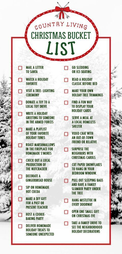 16 Christmas Charts To Help You Survive The Holidays -   18 holiday Activities list ideas