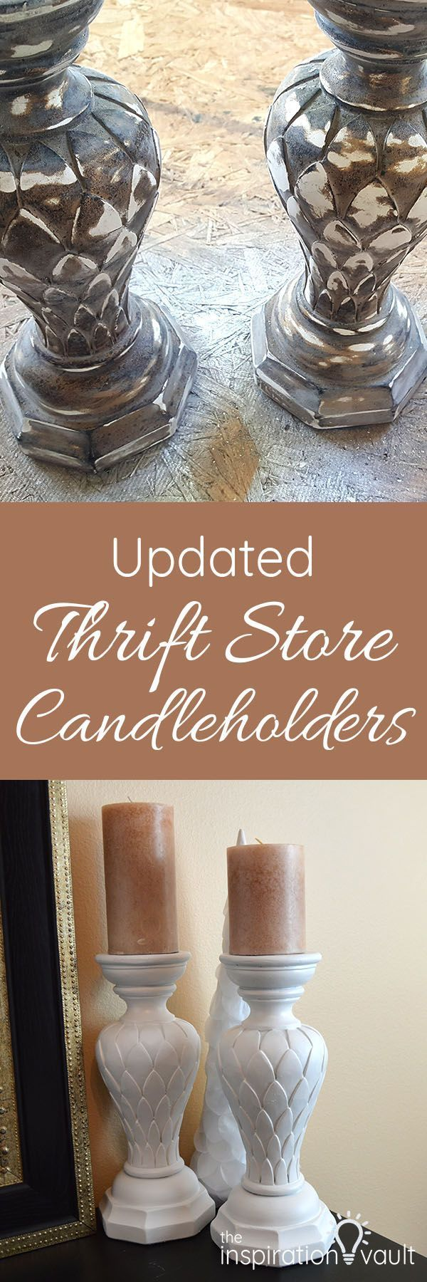 Updated Thrift Store Candleholders #thriftstorefinds