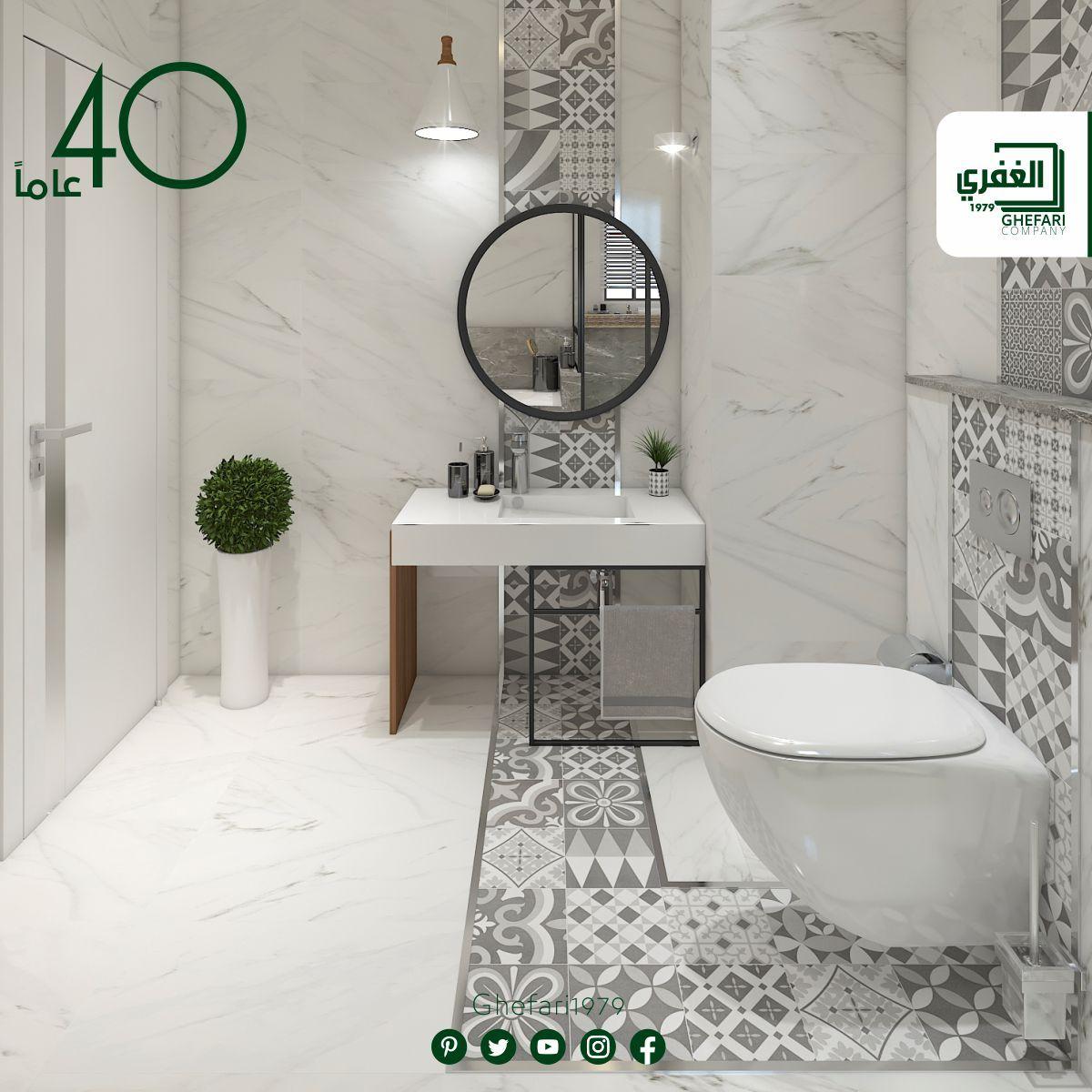 بورسلان ارضي حوائط حمامات مطبخ اسباني الصنع مقاس 75x37 5 ديكور 23 5x23 5 للمزيد زورونا على موقع الشركة W Round Mirror Bathroom Bathroom Mirror Mirror