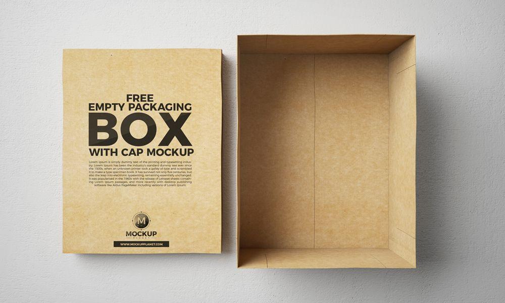 Download Free Open Empty Packaging Box Mockup Box Mockup Packaging Mockup Free Boxes