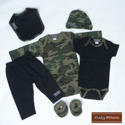 98edc9bb49346 Baby Milano 6 Piece Baby Clothes Gift Set in Camouflage: Baby Clothing :  Walmart.com