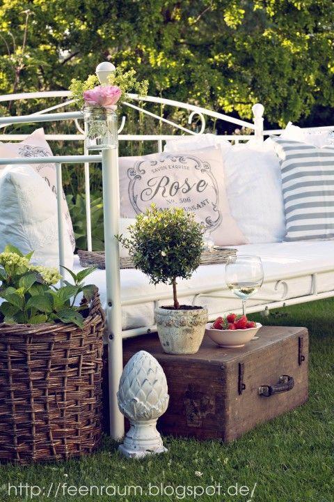 Feenraum Garten Bett Gartenbett vintage bett Pinterest - gartenaccessoires selber machen
