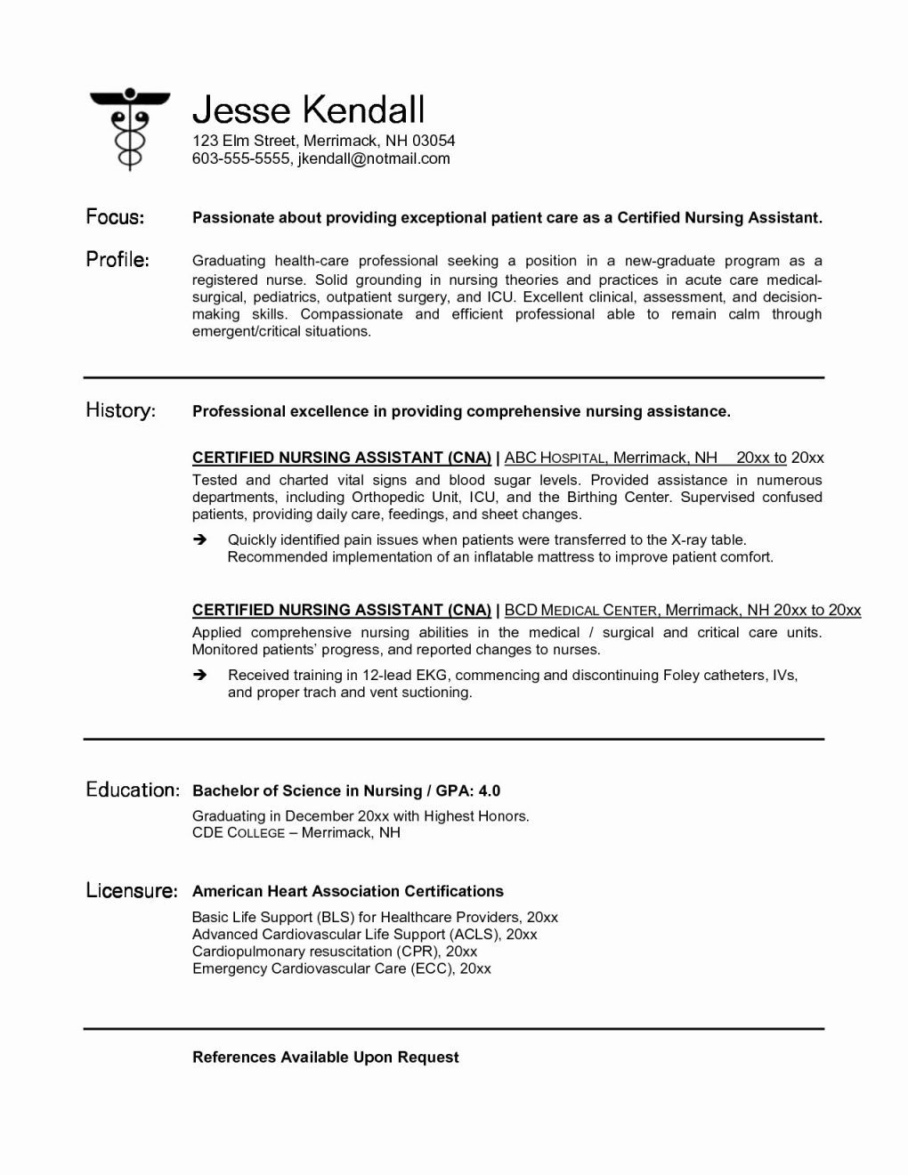 Unique Student Nurse Resume Awesome Nursing Resume Layout ...
