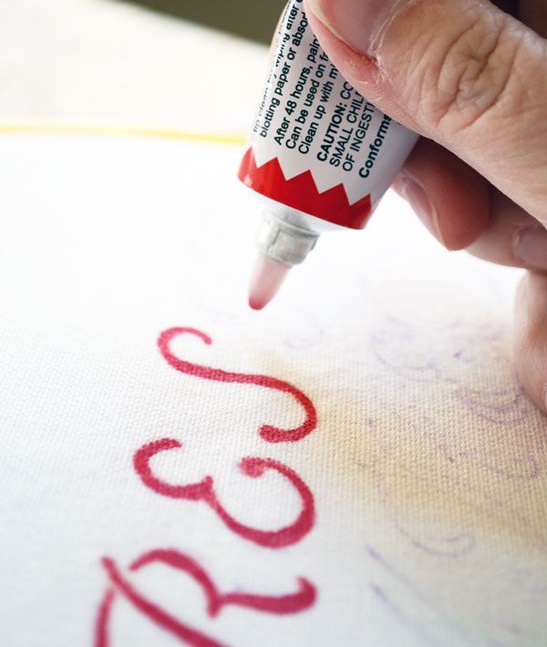 How To Easily Use Ballpoint Embroidery Paint Fabric Painting Fabric Paint Ballpoint