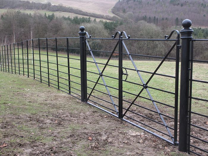 Our traditional estate fencing and gates are ideal for use as a ...