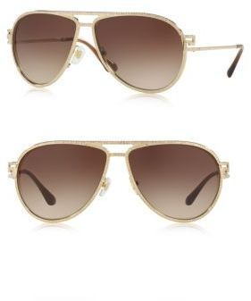e5f7b1a3ea06 Versace 62MM Crystal-Trim Pilot Sunglasses | Versace sunglasses ...