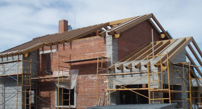 Estructura de madera laminada viviendas unifamiliares - Estructura madera laminada ...