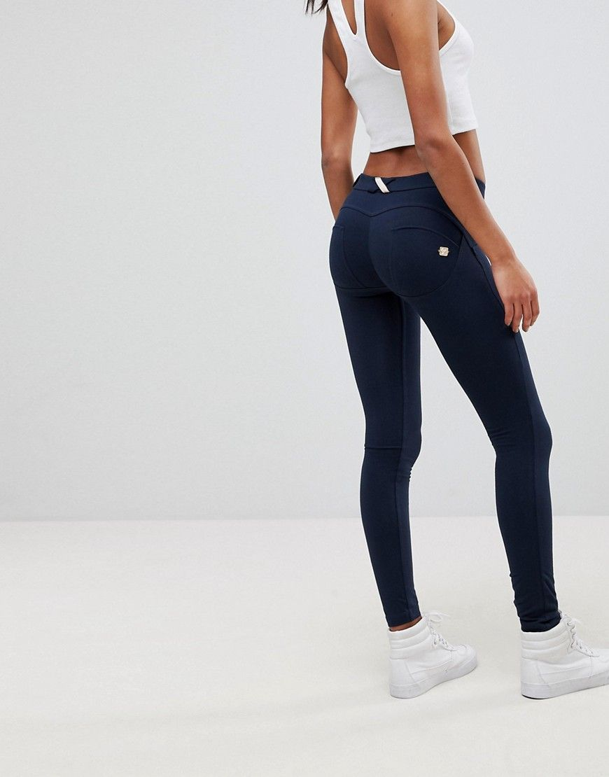 fc33992f9ad83 FREDDY WR. UP SHAPING EFFECT MID RISE SNUG STRETCH PUSH UP JEGGING - NAVY. # freddy #cloth #