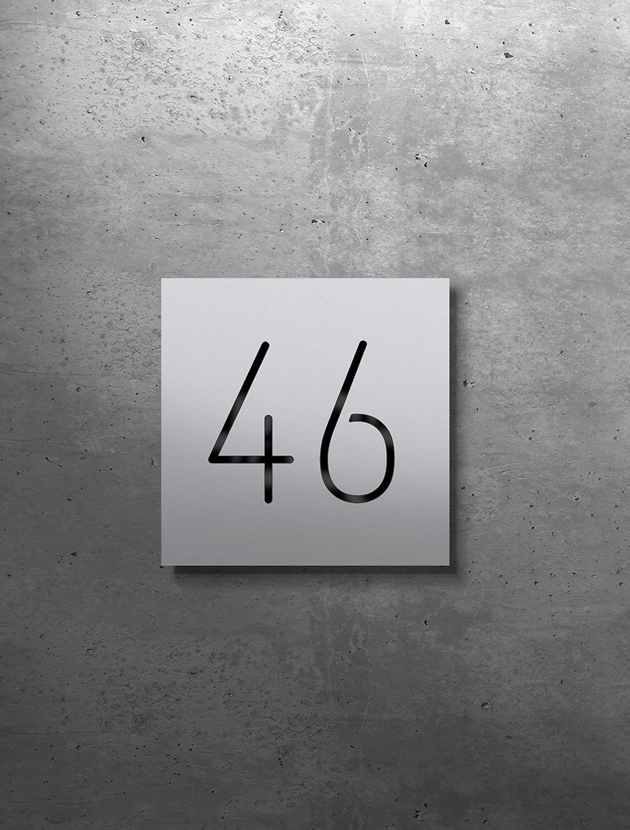 Hausnummern 40 Bis 49 Aluminium Beleuchtet Beleuchten 12v Led Aluminium