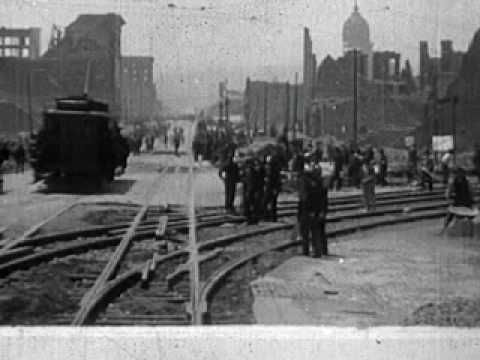 San Francisco Earthquake Aftermath (1906)- video of camps, tents, refugees, etc.