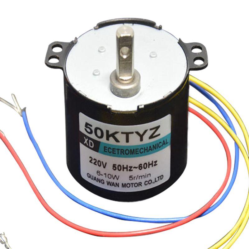50KTYZ AC motor 220V motor micro slow sd machine 10W 2.5 ... on