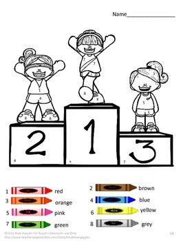 Summer Olympics Track And Field Color By Numbers Color By Numbers Track And Field Special Education Math