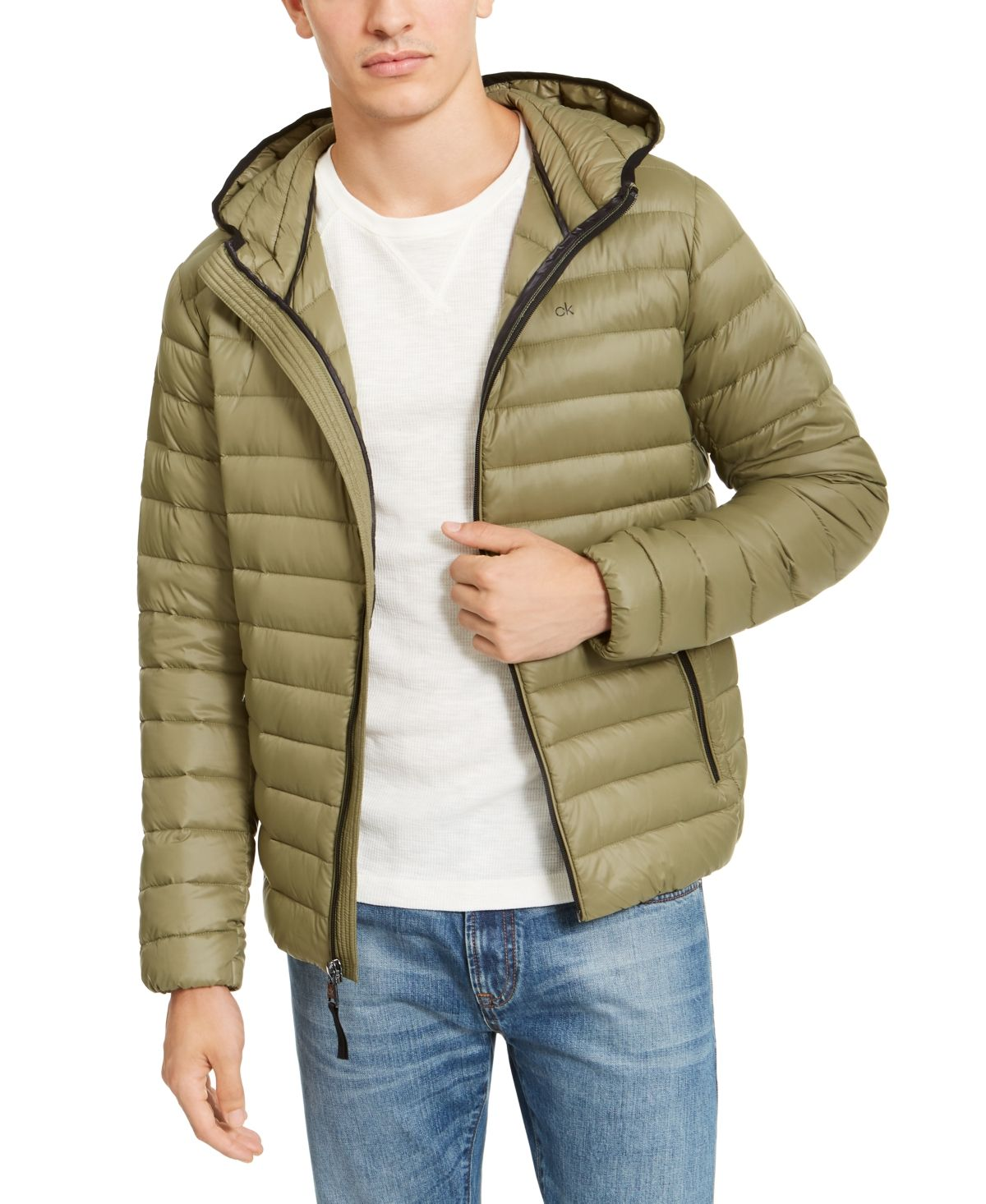 Calvin Klein Men S Packable Down Hooded Puffer Jacket Created For Macy S Reviews Coats Jackets Men Macy S In 2021 Calvin Klein Men Calvin Klein Mens Jackets [ 1466 x 1200 Pixel ]