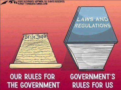 Our rules for the government and the government's rules for us.