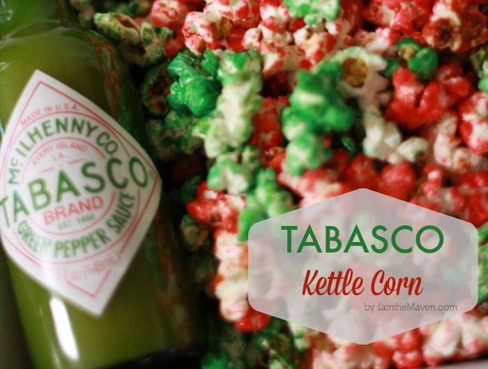 Love Tabasco? Love Kettle Corn? Add some spice to your holiday movie night with my Tabasco Kettle Corn! You won't be disappointed!