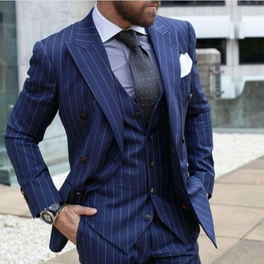 Mens Wedding Suits Quality Best Directly From China Suit Suppliers New Arrivals Blue Stripe Groom Tuxedos Groomsmen