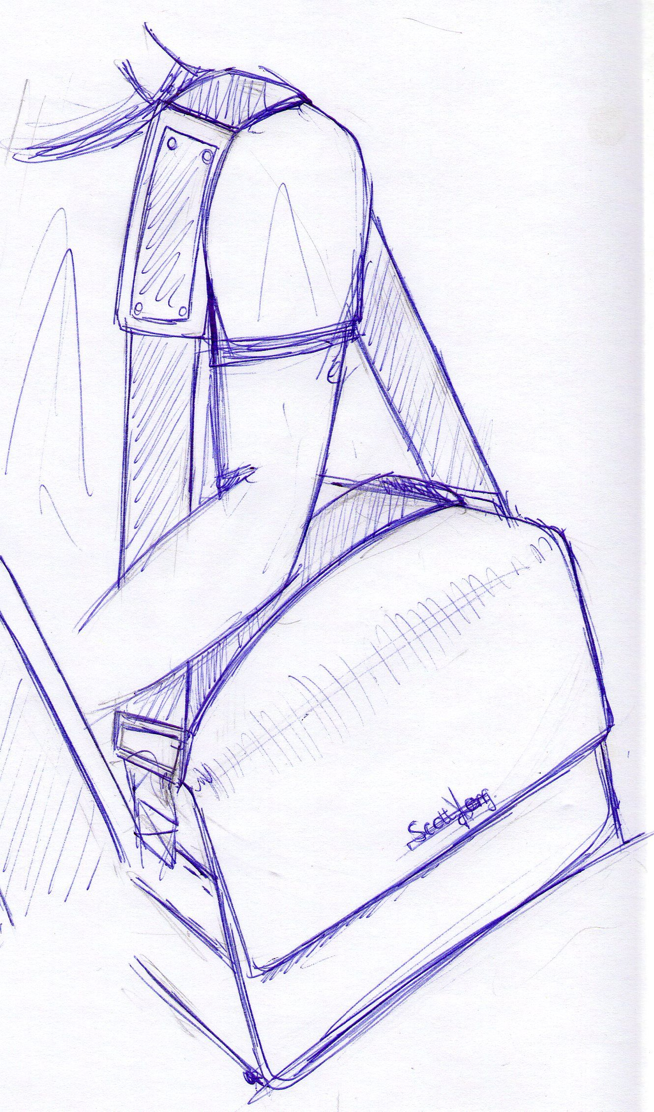 Sketches of my bag for hair designers #5