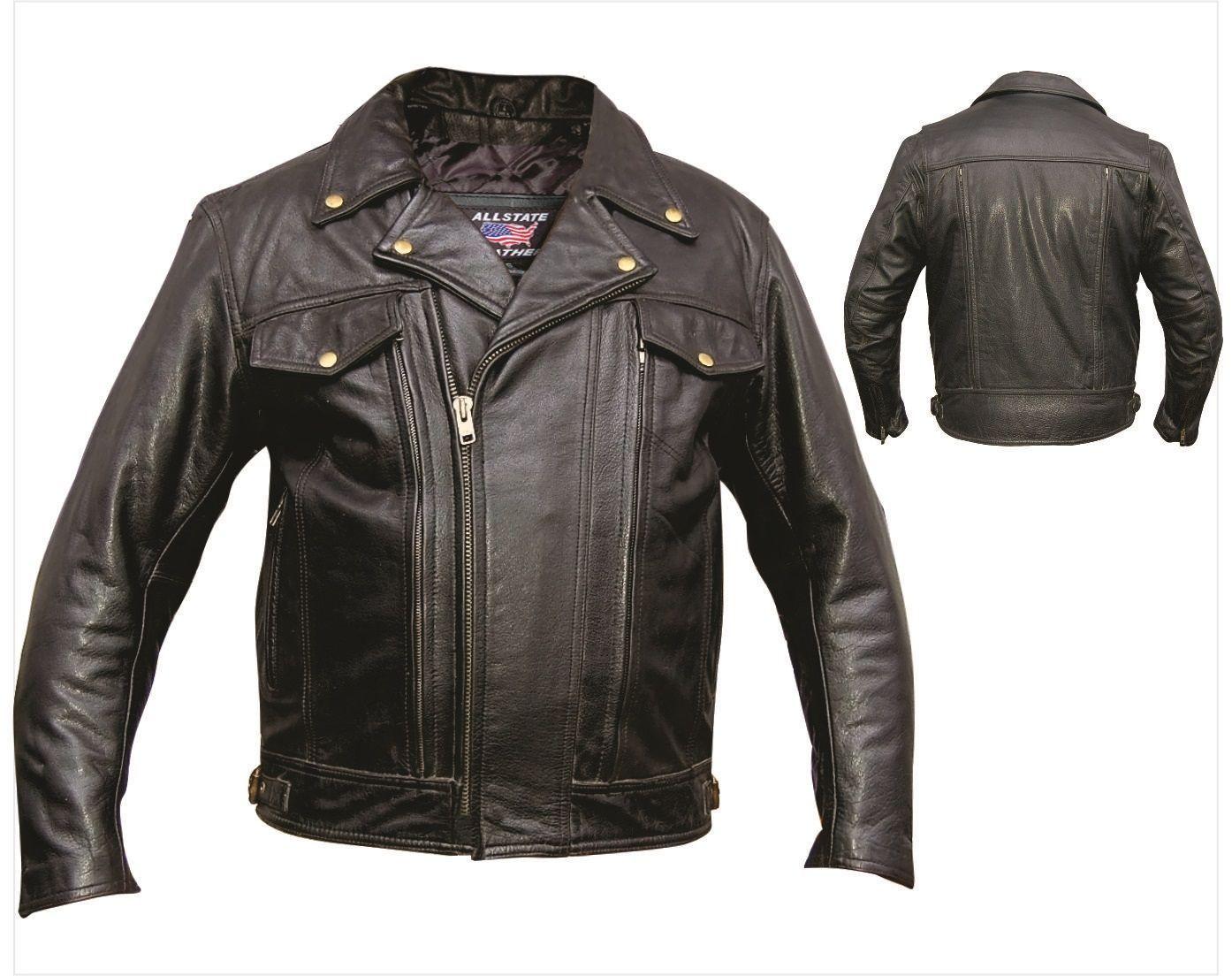 Mens Vented Buffalo Leather Motorcycle Jacket Mens Black Tops Motorcycle Jacket Leather Motorcycle Jacket [ jpg ]