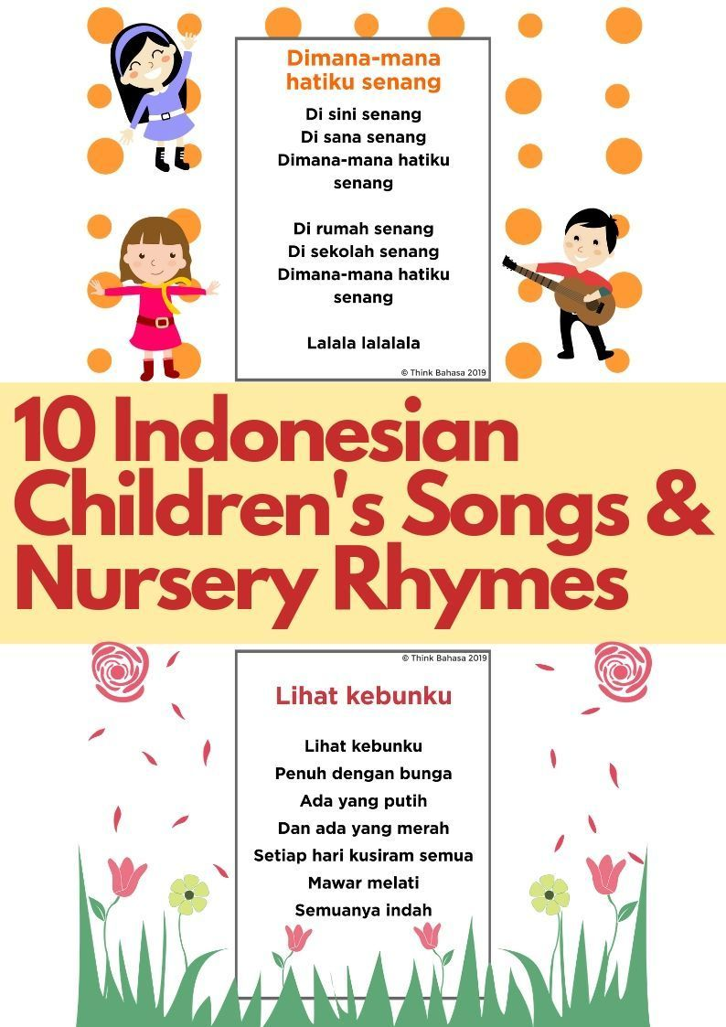 Learn Indonesian Through Songs (10 Lagu Anak Bahasa