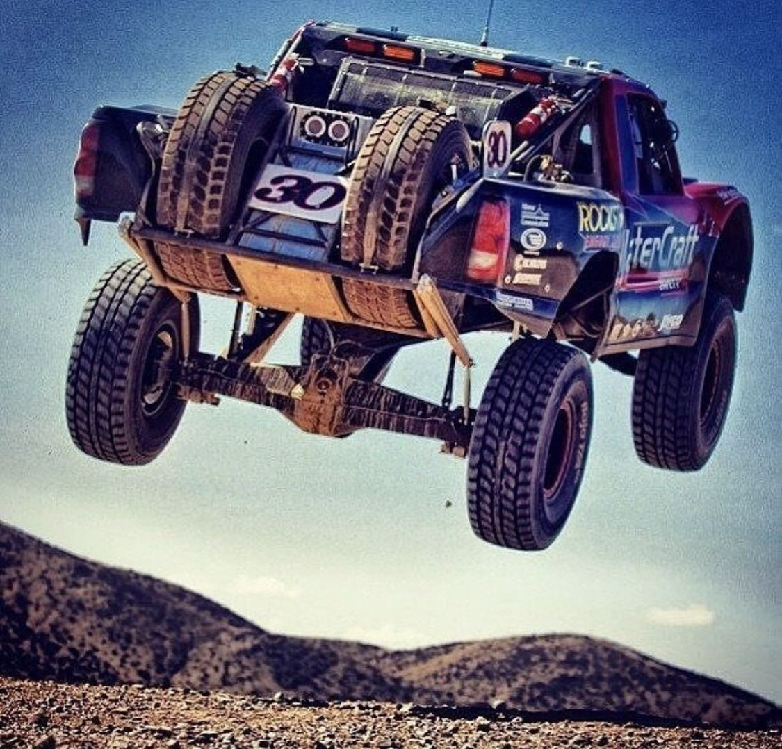 Baja Truck Gettin Air Trophy Truck Trucks Offroad