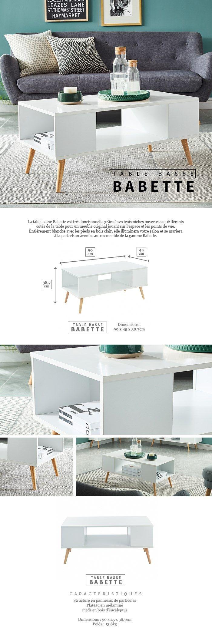 Basse Décor Bois Babette Table En Scandinave BlancPieds N80OvmnwyP
