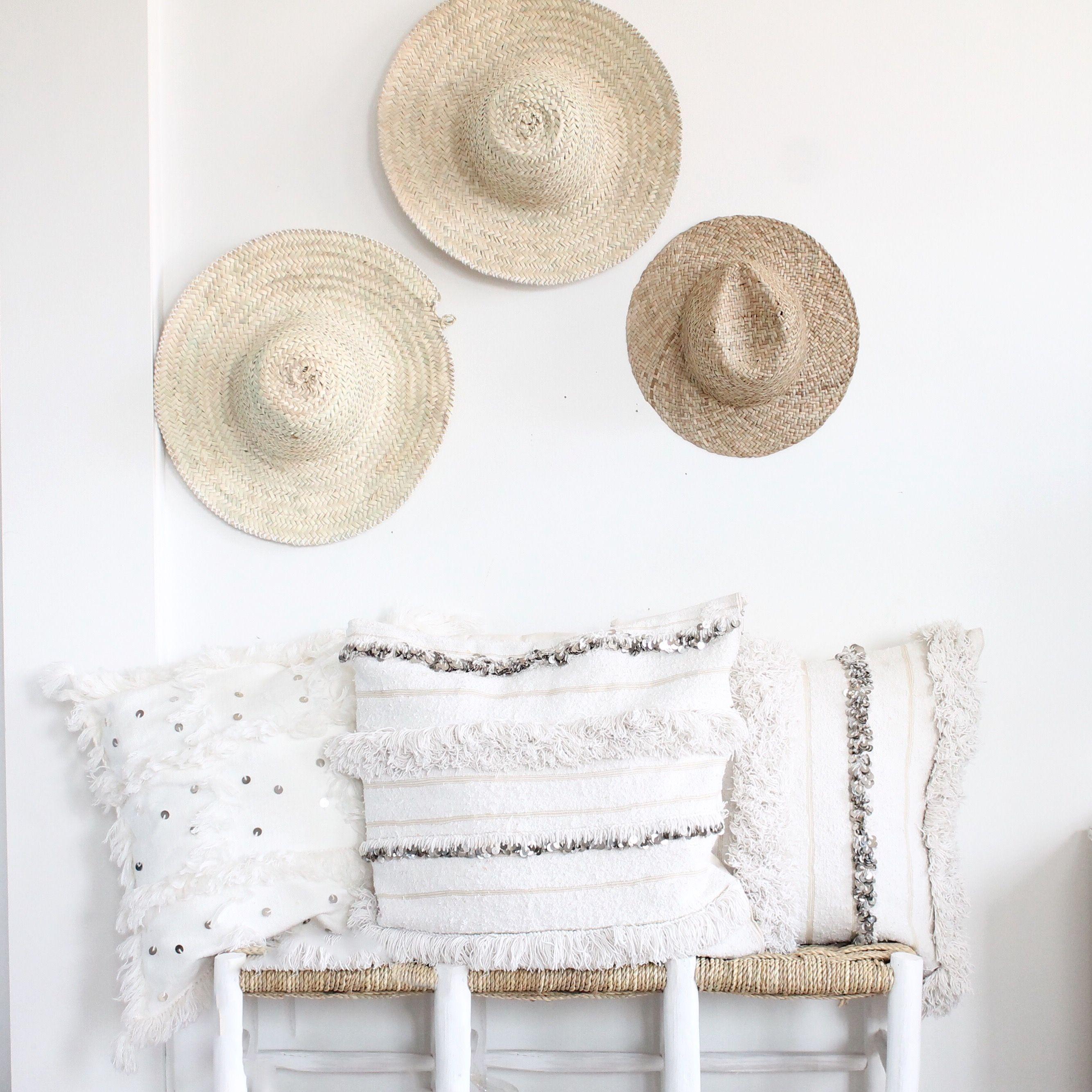 Coussins Handira Banc Marocain Et Chapeaux De Paille Deco